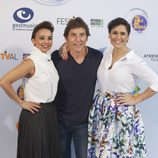 Chenoa, Manel Fuentes y Rosa López en la presentación de 'TCMS' en FesTVal 2016