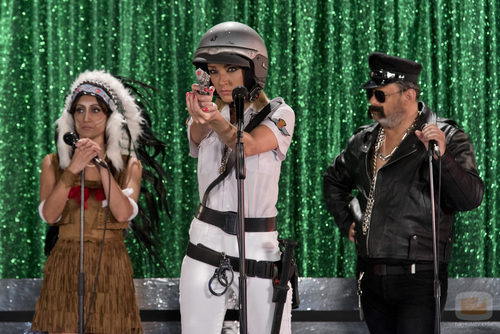 Anna Simón durante la grabación del videoclip especial de 'Zapeando'