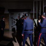 Los agentes de seguridad en la cámara acorazada