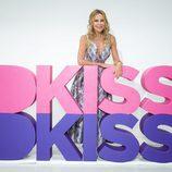 Ana Obregón posa con el logo DKiss en FesTVal