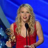 Kate McKinnon recogiendo su Premio Emmy en 2016