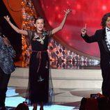 Los niños de 'Stranger Things' en el escenario de los Premios Emmy 2016