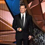 Matt Damon en el escenario de los Premios Emmy 2016