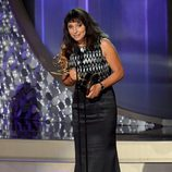 Susanne Bier recogiendo su Premio Emmy 2016
