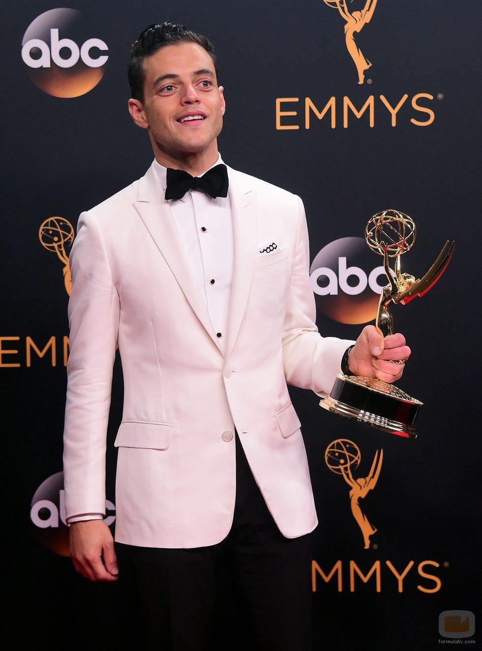 Rami Malek, ganador de un Premio Emmy 2016