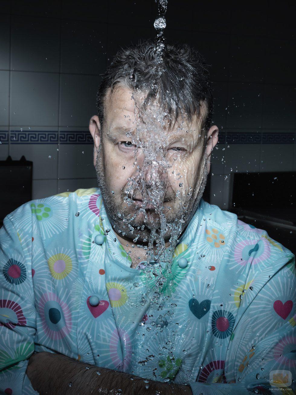 Alberto Chicote en la tercera toma del posado de 'Pesadilla en la cocina'