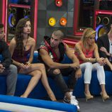 Alain, Adara, Pol, Montse y Miguel en 'Gran hermano 17'
