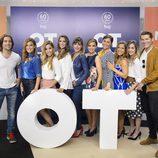 Los triunfitos posando en un photocall en 'OT. El reencuentro'