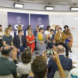 Los triunfitos durante la rueda de prensa en la presentación de 'OT. El reencuentro'