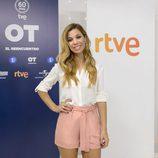 Natalia posando en la presentación de 'OT. El reencuentro'