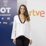 Nuria Fergó posando en la presentación de 'OT. El reencuentro'
