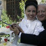 Los actores Juan echanove y ana arias en la serie 'cuentame como pasó'