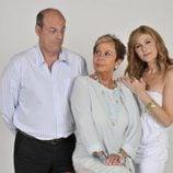 Lina Morgan, Santiago Urrialde y Silvia Gambino