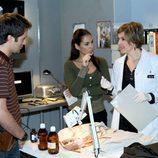 'El Comisario' con los actores Fernando Andina y Cristina Perales