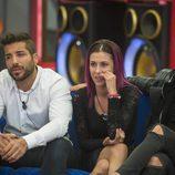 Alain, Bea y Rodrigo en la sexta gala de 'Gran Hermano 17'