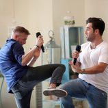 Àlex Casademunt y David Bustamante en la grabación de 'OT. El Reencuentro'