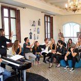 Profesores y alumnos en la grabación de 'OT. El Reencuentro'