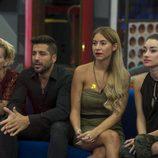 Bárbara, Alain, Rebeca y Adara en la 7ª gala de 'Gran Hermano'
