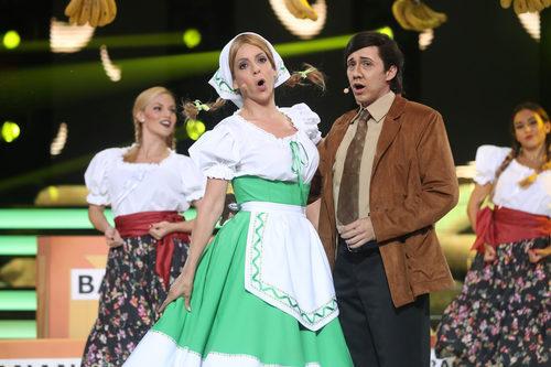 Canco Rodríguez junto a Ruth Lorenzo en 'Tu cara me suena'