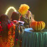Bárbara se maquilla de payaso en la 8ª gala de 'Gran Hermano'