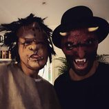 Pablo Alborán junto a un amigo disfrazados por Halloween 2016