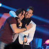 David Bisbal y Javián actuando juntos en el concierto de 'OT. El reencuentro'