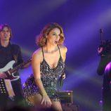 Geno Machado cantando durante el concierto de 'OT. El reencuentro'