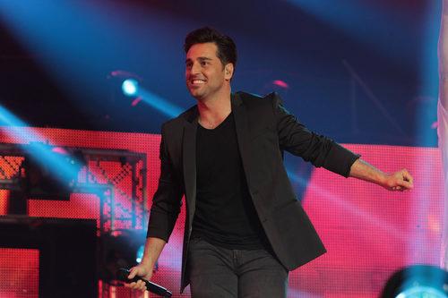 David Bustamante actuando durante el concierto de 'OT. El reencuentro'