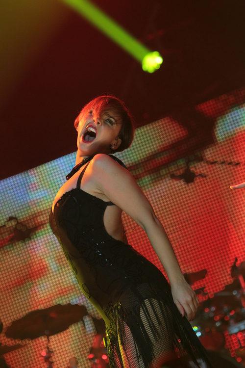 """Una brillante Chenoa canta  """"Lady Marmalade"""" durante el concierto de 'OT. El reencuentro'"""