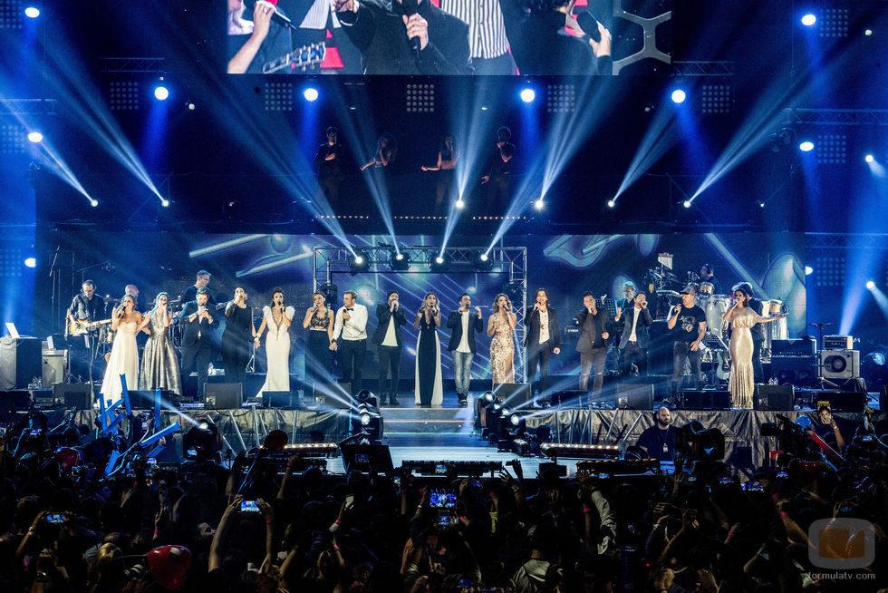 """Los concursantes de 'Operación Triunfo' cantan """"Mi música es tu voz"""" en el concierto de 'OT. El reencuentro'"""