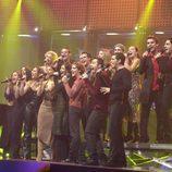 Los 16 integrantes de 'Operación Triunfo' cantan
