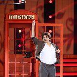 Yolanda Ramos actuando de Junco durante la quinta gala de 'Tu cara me suena'