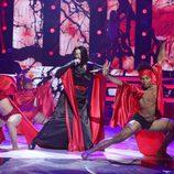 Rosa López actuando de Madonna en la quinta gala de 'Tu cara me suena'