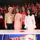 El jurado y la presentadora del nuevo talent show de 'Tú sí que sí'