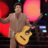 Juan Muñoz se transforma en Peret en 'Tu cara me suena'