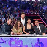 Carlos Latre, Lolita Flores, Manel Fuentes, Chenoa y Àngel Llacer en la sexta gala de 'Tu cara me suena'