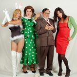 Yolanda Ramos, Jordi Ríos, José Corbacho y Paco León actuando en 'Homo Zapping'