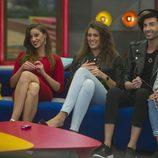 Meritxell, Simona , Clara  y Miguel en la 11ª gala de 'Gran Hermano 17'