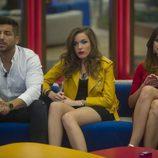 Alain, Meritxell y Simona en la 11ª gala de 'Gran Hermano'