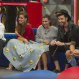 Alain, Simona, Bea, Miguel y Rodrigo en la 11ª gala de 'Gran Hermano'