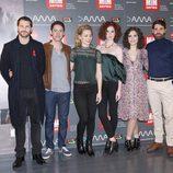 Los protagonistas de 'Reinas' posan en el festival MiM Series