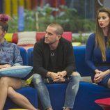 Bea, Rodrigo y Simona al comienzo de la 12ª gala de 'Gran Hermano'