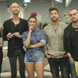 Meritxell, Miguel, Bea, Alain y Rodrigo en la 12ª gala de 'Gran Hermano'