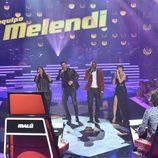 El equipo de Melendi canta en los segundos directos de 'La Voz'