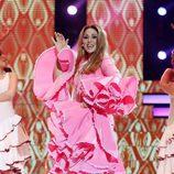 Rosa López como Carmen Sevilla en la novena gala de 'Tu cara me suena'