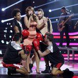 Lorena Gómez es Kelly Clarkson en la novena gala de 'Tu cara me suena'