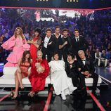 Manel Fuentes junto con los participantes de 'Tu cara me suena' en la novena gala