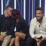 Alain acompañado por Rodrigo y Bea en la gala 14 de 'Gran Hermano 17'