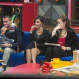 Bea, Rodri y Meritxell, emocionados en la gala 14 de 'Gran Hermano 17'