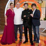 El jurado posa junto al chef Jose Andrés en 'MasterChef Celebrity'